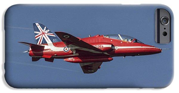 Red Tail Hawk Digital Art iPhone Cases - Red Arrows 50 Display Seasons iPhone Case by J Biggadike
