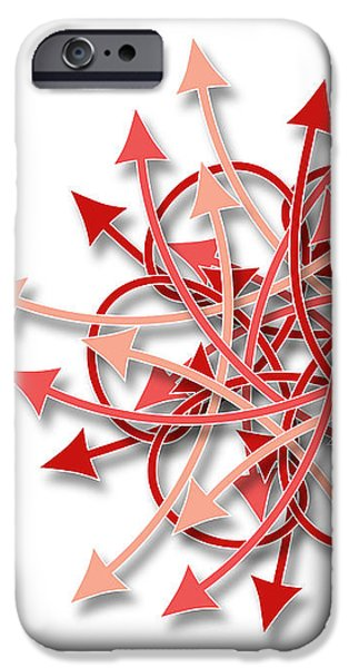 Concept Tapestries - Textiles iPhone Cases - Red Arrows flowers pattern iPhone Case by Jozef Jankola