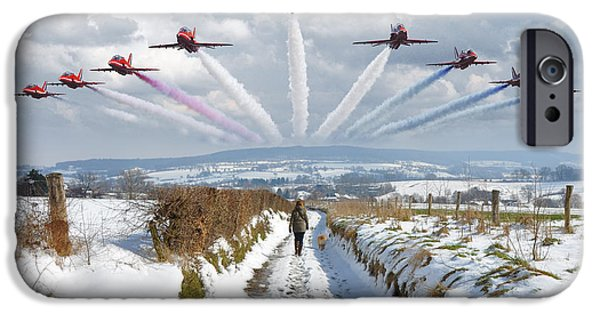 Limburg iPhone Cases - Red Arrows over Epen iPhone Case by Nop Briex
