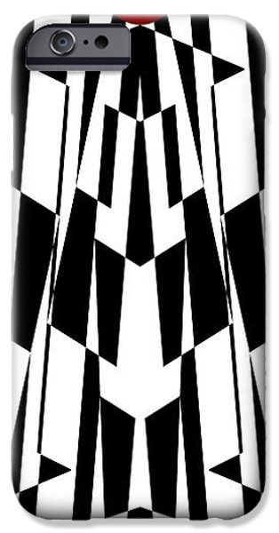 Modern Abstract iPhone Cases - Red Ball 19 Panoramic iPhone Case by Mike McGlothlen