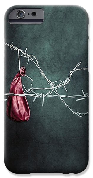 Balloon iPhone Cases - Red Balloon iPhone Case by Joana Kruse