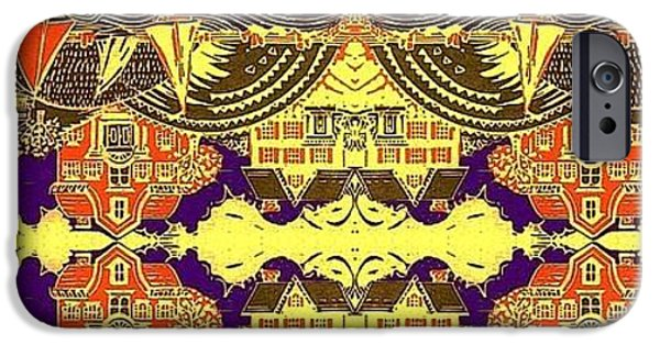 Transportation Tapestries - Textiles iPhone Cases - Red Bank iPhone Case by Cheryl Briard