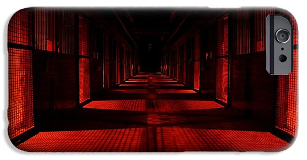 Creepy iPhone Cases - Red Barn Abstract iPhone Case by Mike Quinn