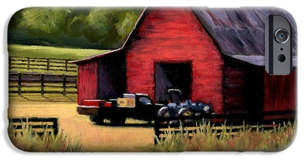 Janet King iPhone Cases - Red Barn in Leipers Fork Tennessee iPhone Case by Janet King