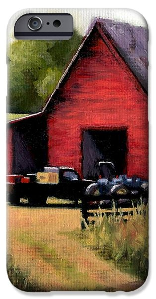 Red Barn in Leiper's Fork Tennessee iPhone Case by Janet King