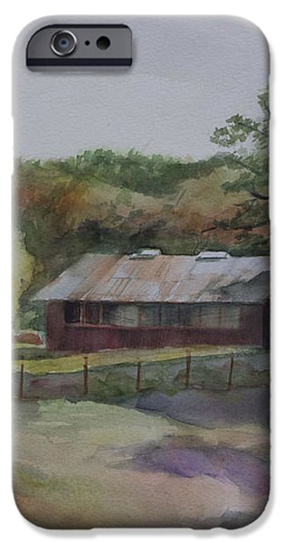 Red Barn iPhone Case by Janet Felts
