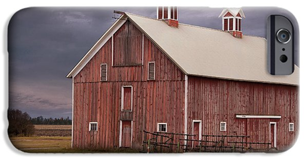 Agriculture iPhone Cases - Red Barn  iPhone Case by Juli Scalzi