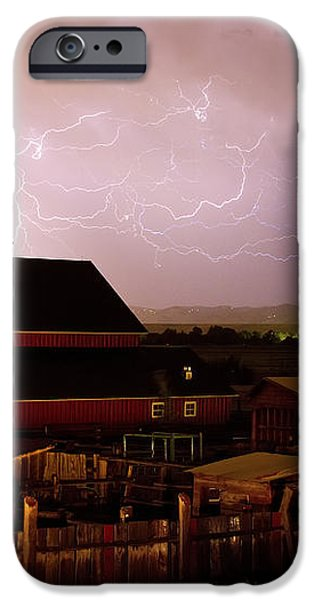 Red Barn On The Farm and Lightning Thunderstorm iPhone Case by James BO  Insogna