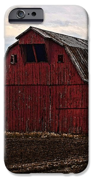 Red barn photoart iPhone Case by Debbie Portwood