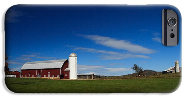 Red Barn iPhone Cases - Red Barn iPhone Case by Shane Holsclaw