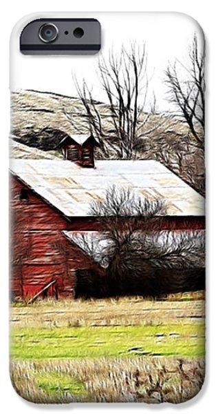 Red Barn iPhone Case by Steve McKinzie