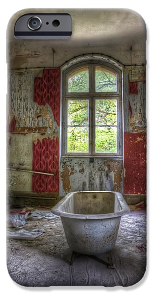 Recently Sold -  - Creepy iPhone Cases - Red bathroom iPhone Case by Nathan Wright