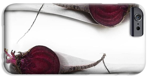 Spoon iPhone Cases - Red Beets iPhone Case by Priska Wettstein