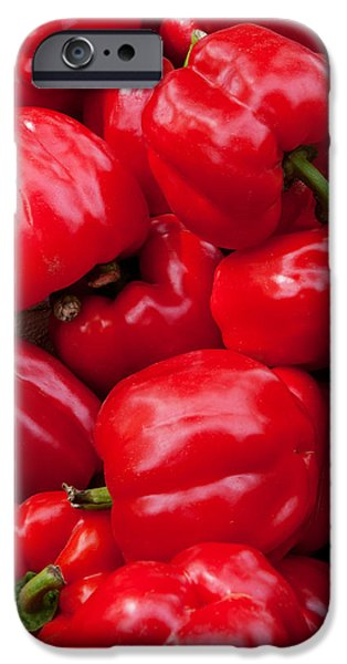 Arles iPhone Cases - Red Bell Peppers For Sale At Weekly iPhone Case by Panoramic Images