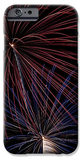 Red Blue Fireworks iPhone Case by Jason Meyer