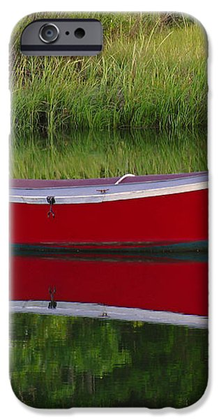 Red Boat iPhone Case by Juergen Roth