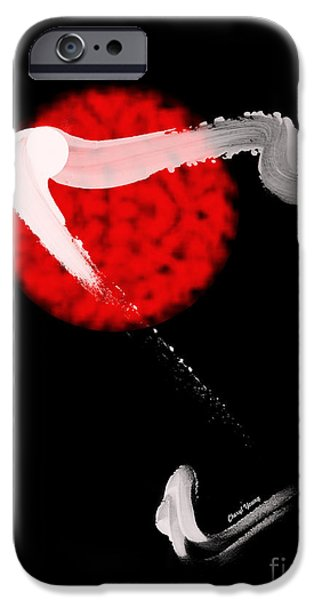 Abstract Digital Photographs iPhone Cases - Red Bull iPhone Case by Cheryl Young