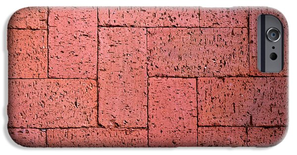 Burned Clay iPhone Cases - Red Burnt Bricks iPhone Case by Jozef Jankola