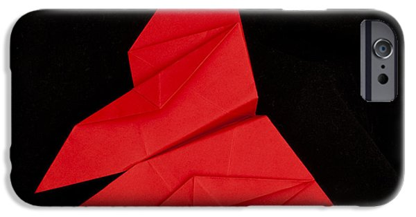 Figure iPhone Cases - Red butterfly  iPhone Case by Deyan Georgiev