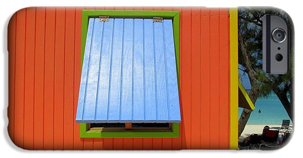 Cabin Window iPhone Cases - Red Cabin iPhone Case by Randall Weidner