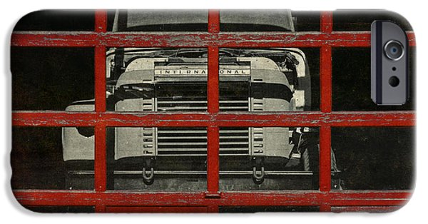 Delivery Truck iPhone Cases - Red Cage iPhone Case by Jeff  Gettis