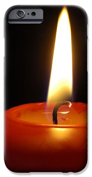 Red candle burning iPhone Case by Matthias Hauser