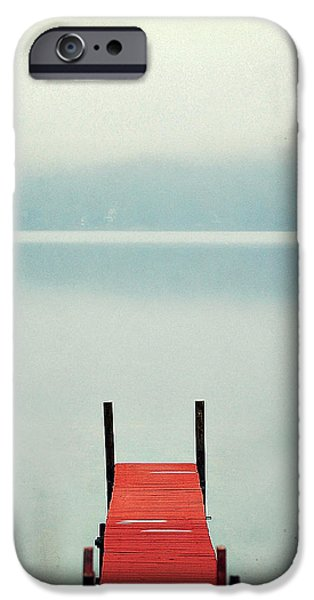 Winter Photographs iPhone Cases - Red iPhone Case by Carrie Ann Grippo-Pike