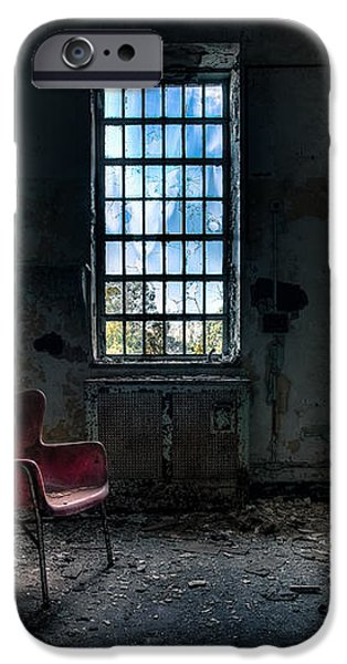Red Chair - Art Deco Decay - Gary Heller iPhone Case by Gary Heller
