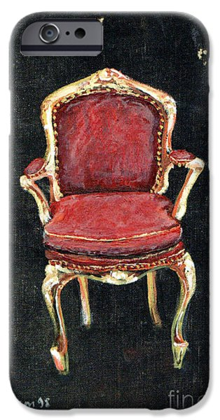 Red Chair iPhone Case by Cathy Peterson