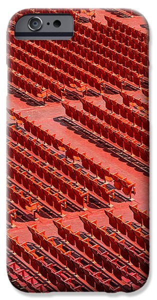 Red Chairs iPhone Case by Dobromir Dobrinov