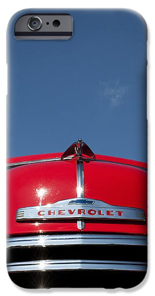 Red Chevrolet 3100 1953 Pickup  iPhone Case by Tim Gainey