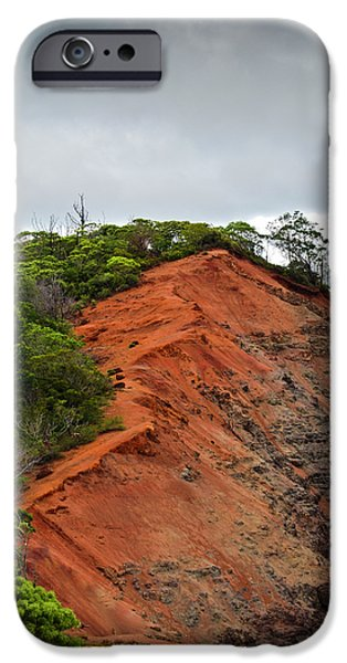 Red Cliff at Waimea iPhone Case by Christi Kraft