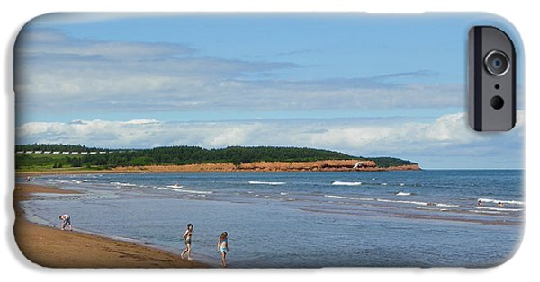 North Rustico iPhone Cases - Red Cliffs at N. Rustico Beach iPhone Case by Georgia Hamlin