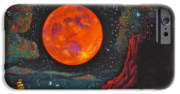 Moonscape iPhone Cases - Red Cliffs iPhone Case by Cynthia Ring