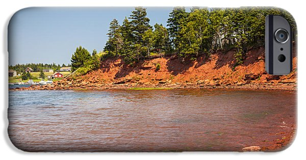 Prince iPhone Cases - Red cliffs of Prince Edward Island iPhone Case by Elena Elisseeva