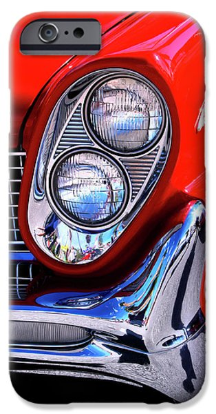 Asphalt iPhone Cases - RED CONTINENTAL Palm Springs iPhone Case by William Dey
