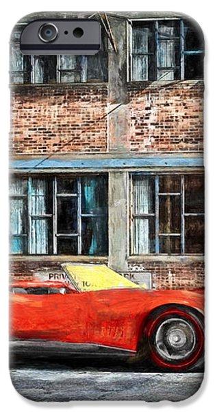 Red Corvette iPhone Case by Bob Orsillo