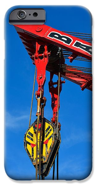 Red Crane - Photography By William Patrick and Sharon Cummings iPhone Case by Sharon Cummings