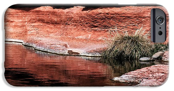Oak Creek iPhone Cases - Red Creek iPhone Case by John Rizzuto