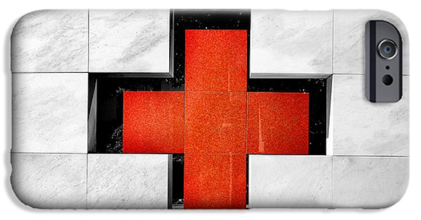 The White House Photographs iPhone Cases - Red Cross iPhone Case by Greg Fortier