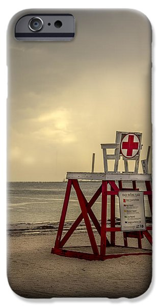Gulf Of Mexico iPhone Cases - Red Cross Lifeguard iPhone Case by Marvin Spates