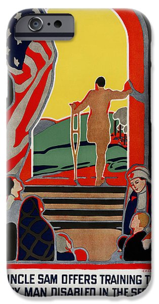 RED CROSS POSTER, 1919 iPhone Case by Granger