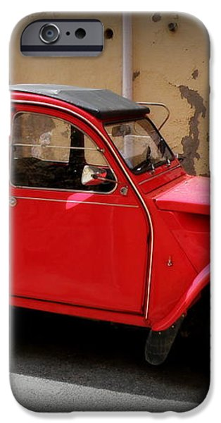 Red Deux Chevaux iPhone Case by Lainie Wrightson