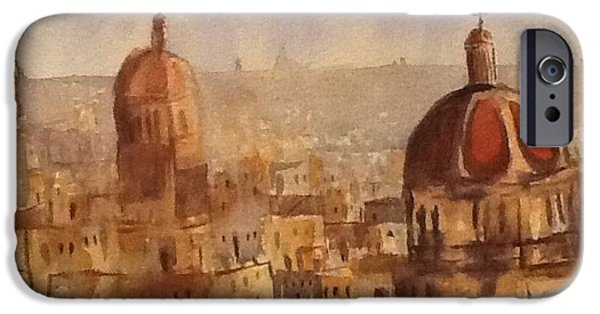 From The Dome iPhone Cases - Red Domes iPhone Case by Gail Heffron