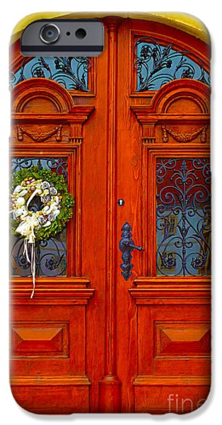 Ann Johndro-collins iPhone Cases - 		Red Door			 iPhone Case by Ann Johndro-Collins