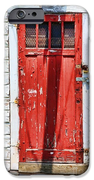 Red Door By Diana Sainz iPhone Case by Diana Sainz