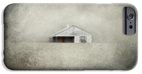 Tennessee Farm iPhone Cases - Red Door Farmhouse iPhone Case by Jai Johnson