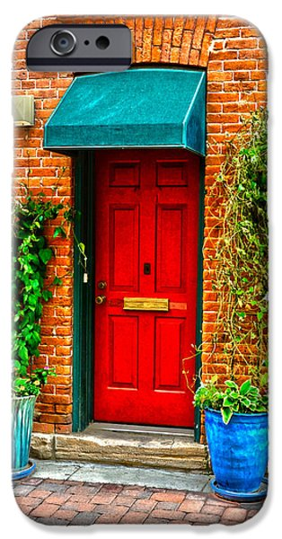 Red Door iPhone Case by Baywest Imaging