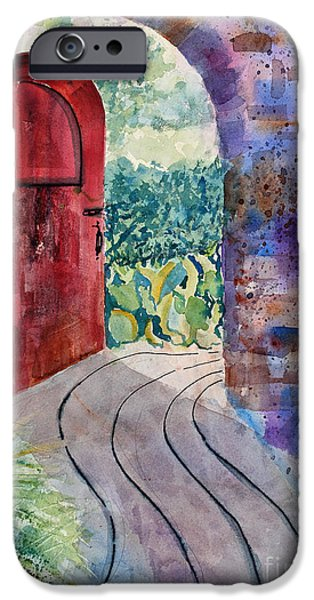 French Open iPhone Cases - Red Door iPhone Case by Mary Benke