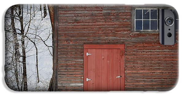 Windsor iPhone Cases - Red Door Red Barn iPhone Case by Edward Fielding
